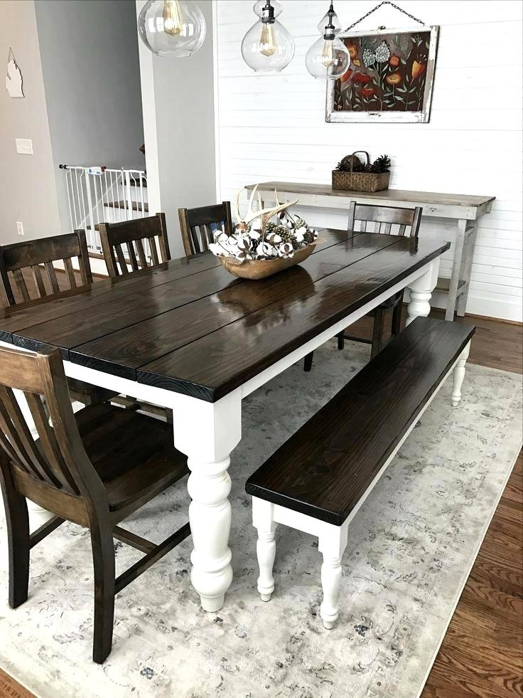 2018 Splendid Style Reclaimed Pallet Wood Dining Table Set House Black With Dining Tables With White Legs (View 18 of 20)
