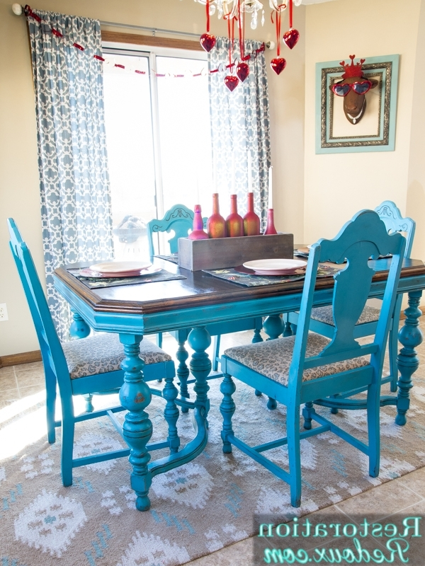 2018 Turquoise Dining Table – Daily Dose Of Style Within Blue Dining Tables (View 14 of 20)