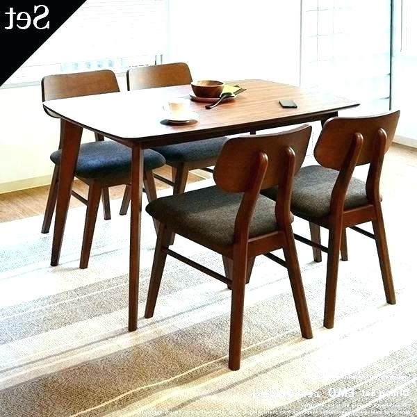 2018 Walnut Dining Table Sets Inside Diner Table Sets Dining Table Dining Table Retro Dining Set Hang (View 2 of 20)