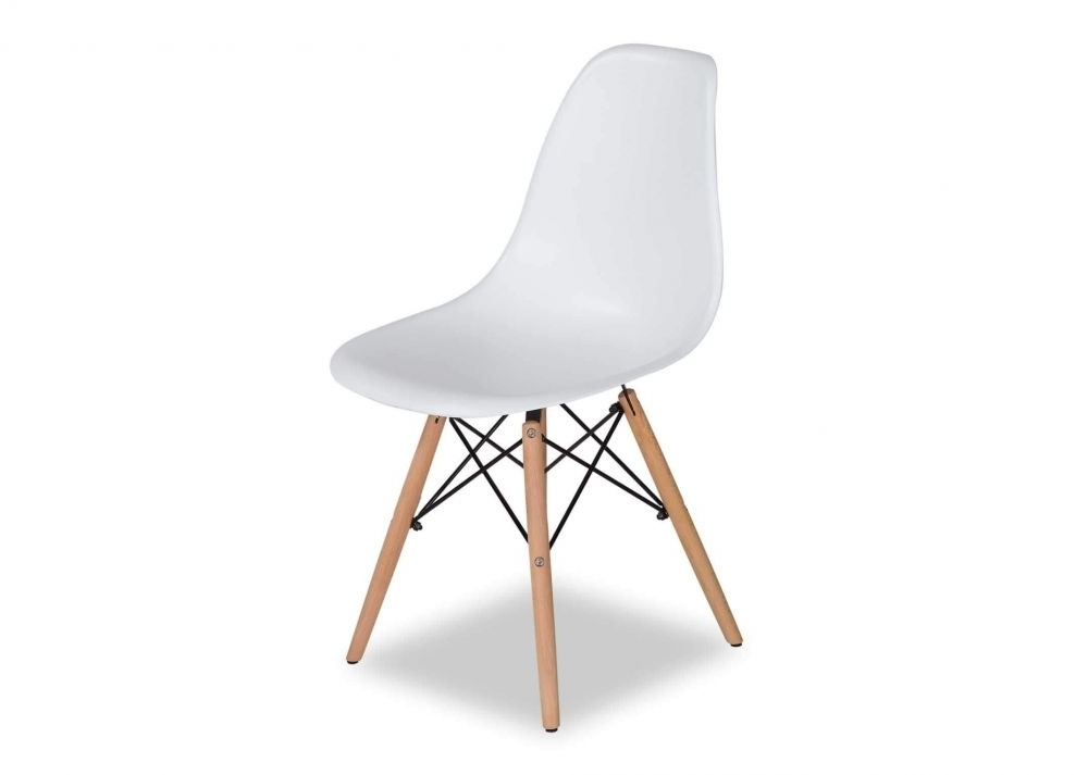 2018 White Dining Chairs Within Modern White Dining Shell Chair – Kuga – Ez Living Furniture (View 1 of 20)
