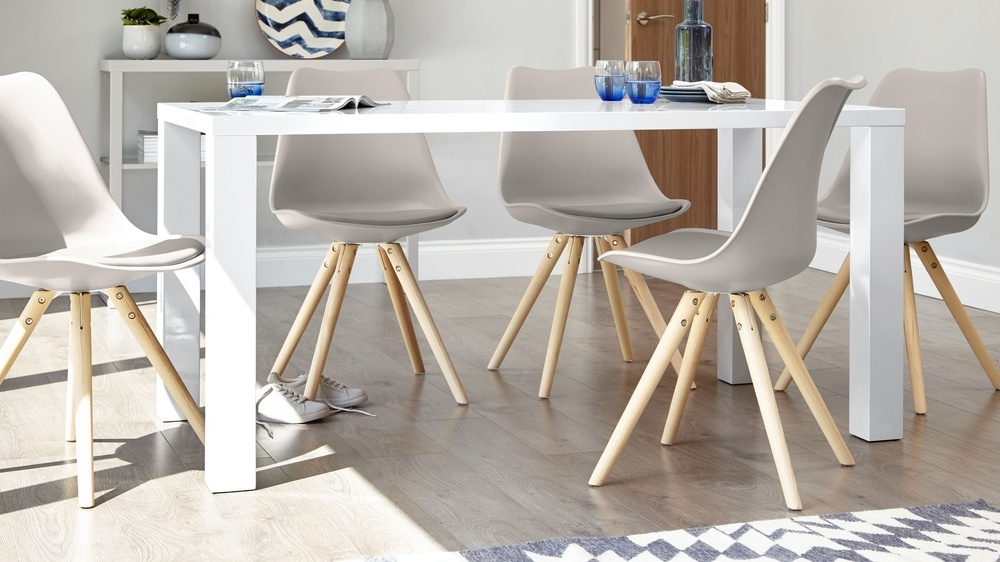 2018 White Gloss Dining Sets In White Gloss 4 Seater Dining Set (View 2 of 20)