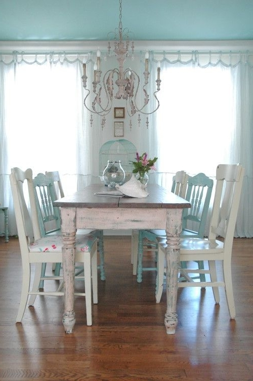 26 Ways To Create A Shabby Chic Dining Room Or Area – Shelterness With Regard To Most Recent Shabby Chic Cream Dining Tables And Chairs (View 2 of 20)
