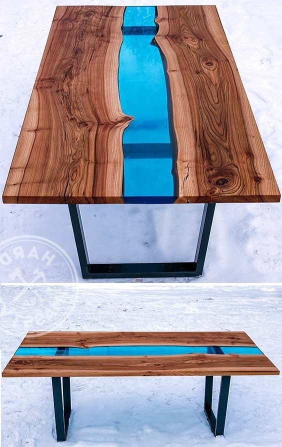 28 Unique Dining Tables To Make The Space Spectacular – Digsdigs With Most Current Blue Glass Dining Tables (View 2 of 20)