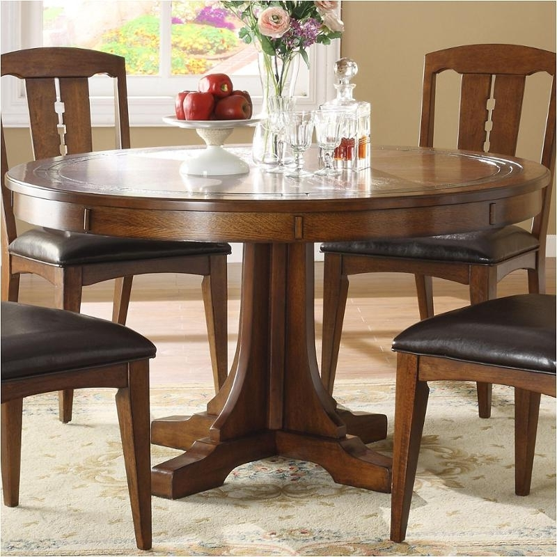 2951 Riverside Furniture Count A Height Round Dining Table For Trendy Craftsman Round Dining Tables (View 1 of 20)