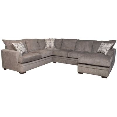 2pc Pewter Raf Sectional W/chaise C2 68rc 2pc (View 6 of 15)