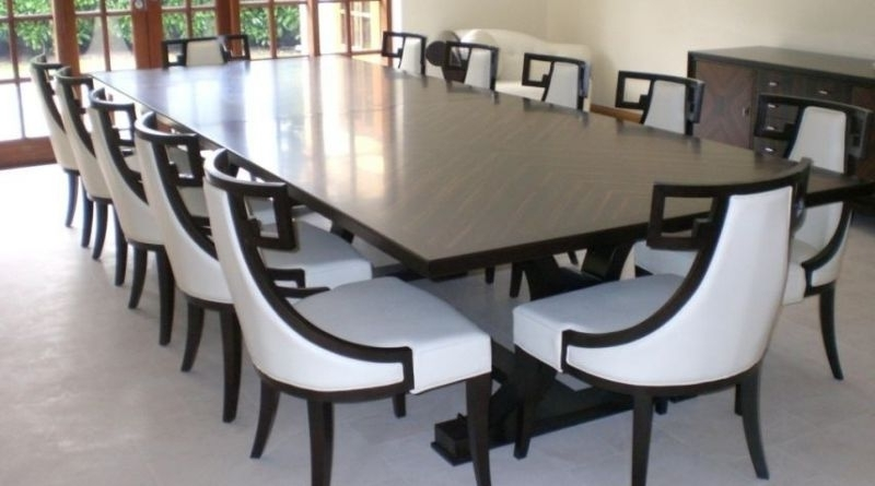 3. 12 Seat Dining Table Modern Design Seater With Artificial Marble Regarding Well Known 10 Seater Dining Tables And Chairs (Gallery 20 of 20)