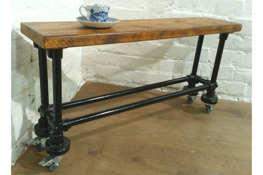 3Ft Dining Tables Throughout Latest 3Ft Industrial Scaffold Rustic Vintage Reclaimed Pine Dining Table (View 2 of 20)