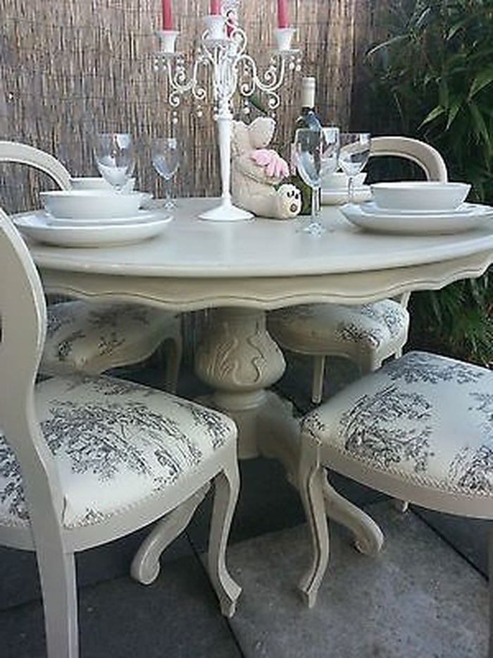 4. Brilliant Best 25 French Dining Tables Ideas On Pinterest Blue Intended For 2018 Shabby Dining Tables And Chairs (Gallery 7 of 20)