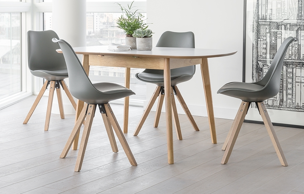 4 Seater Dining Set – Grey – Home Furniture – Out & Out Original Inside Most Popular 4 Seater Extendable Dining Tables (View 2 of 20)