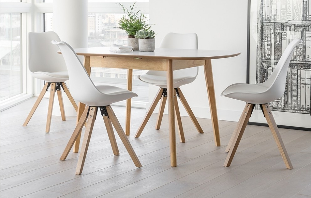 4 Seater Dining Set – White – Home Furniture – Out & Out Original Inside Most Recently Released 4 Seater Extendable Dining Tables (Gallery 1 of 20)