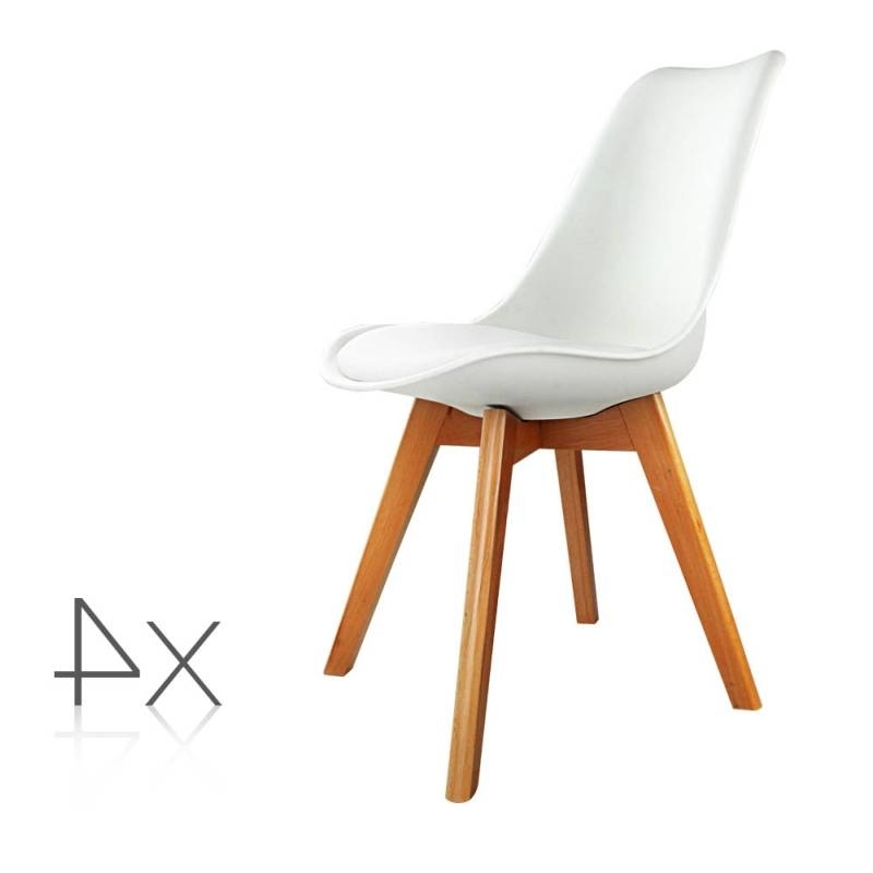 4X Replica Eames Pu Leather Dining Chairs In White Buy 8 Chair In Well Known Perth White Dining Chairs (View 1 of 20)