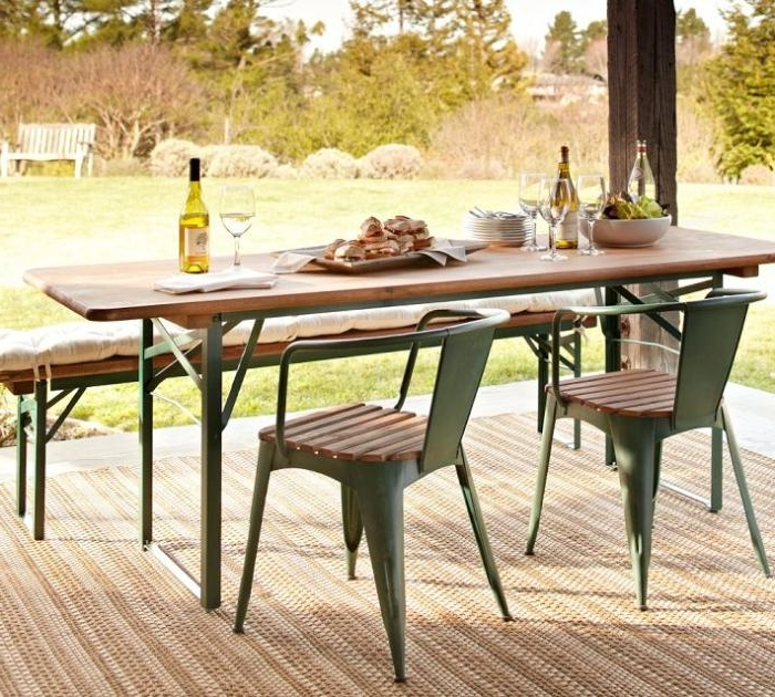 5 Favorites: Folding Outdoor Dining Tables – Gardenista Within Most Current Garden Dining Tables (View 2 of 20)
