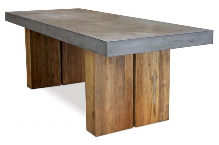 """501Ft040P2G Perpetual 87"""" Teak Olympus Dining Table With Reclaimed Base With Best And Newest 87 Inch Dining Tables (Gallery 16 of 20)"""