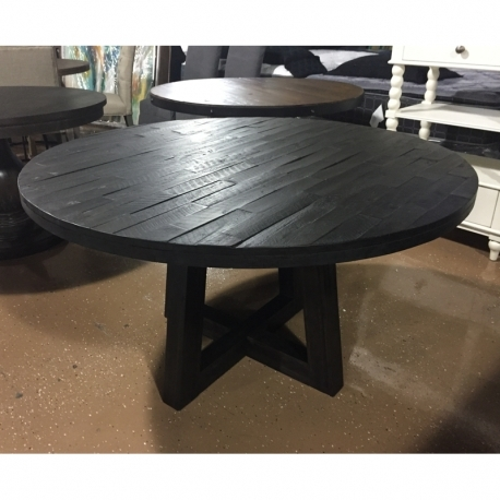 """54"""" Round Solid Wood Acacia Dining Table Or 5Pc Set – Lexington, Ky Regarding Famous Acacia Dining Tables (View 2 of 20)"""