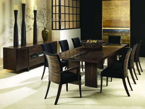 6 8 Seater Glass Dining Table Black Powder Coated Legs In Seat For Preferred Black 8 Seater Dining Tables (Gallery 8 of 20)