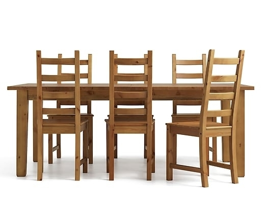 6 Chair Dining Table Sets Pertaining To Well Liked 6 Seater Dining Table & Chairs (View 8 of 20)
