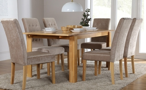 6 Chairs And Dining Tables In Current 6 Seater Dining Set (Gallery 5 of 20)