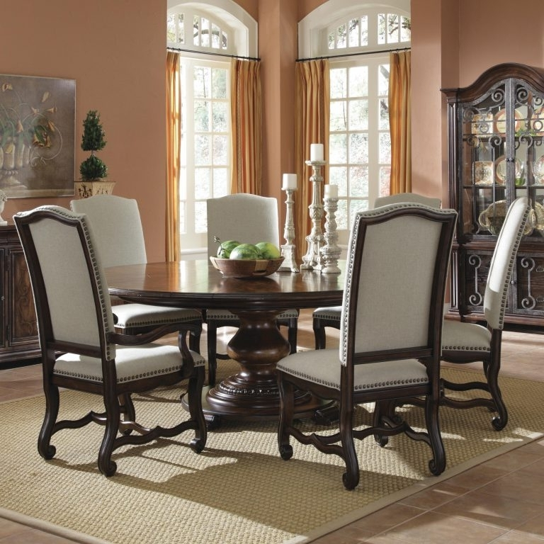 6 Person Round Dining Tables In Favorite Dining Tables: Astounding 6 Person Round Dining Table 6 Person Round (Gallery 7 of 20)