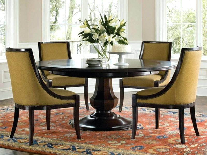 6 Person Round Dining Tables Regarding Famous The Amazing Contemporary Round Dining Table For 6 Dining Tables In (Gallery 16 of 20)