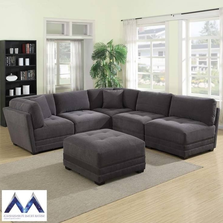 6 Piece Sectional Sofa Marcus Grey W Power Headrest Usb Living Regarding 2017 Marcus Grey 6 Piece Sectionals With  Power Headrest & Usb (View 3 of 15)