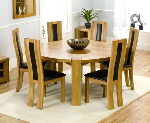 6 Seat Dining Table Round Wooden 6 Sitter Dining Tables Table With Most Recent 6 Seat Round Dining Tables (Gallery 3 of 20)