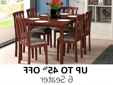 6 Seater Dining Tables Within Favorite Dining Table: Buy Dining Table Online At Best Prices In India (View 17 of 20)