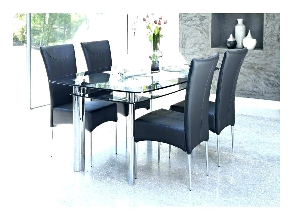6 Seater Glass Dining Table Sets Inside Well Known Round Black Glass Dining Table Kitchen Unusual Extendable Small Room (View 3 of 20)