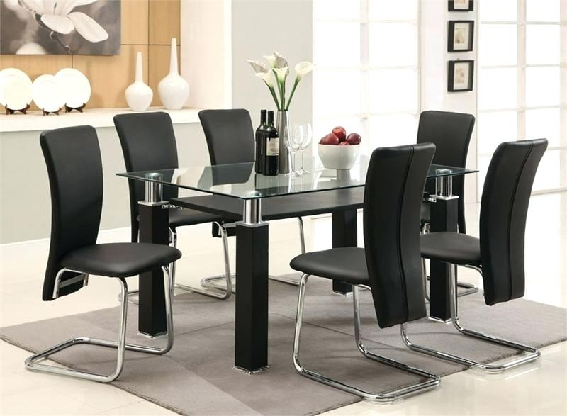 6 Seater Glass Dining Table Sets Pertaining To Current Modern Glass Dining Table Sets – Modern Computer Desk (Gallery 12 of 20)