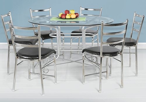 6 Seater Glass Dining Table Sets With Best And Newest Glass Top 6 Seater Dining Table Set On Rent In Bangalore – Guarented (View 5 of 20)