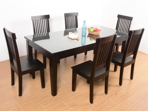 6 Seater Glass Dining Table Sets With Most Popular 6 Seater Glass Dining Tables At Rs 32000 /set (View 6 of 20)