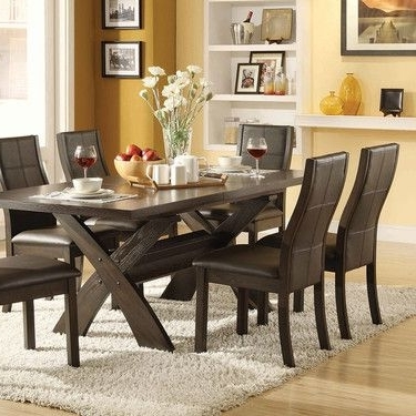 7 Piece Dining Set, Bayside Furnishings Xenia $700 At Costco Intended For Most Popular Jaxon 7 Piece Rectangle Dining Sets With Upholstered Chairs (View 3 of 20)