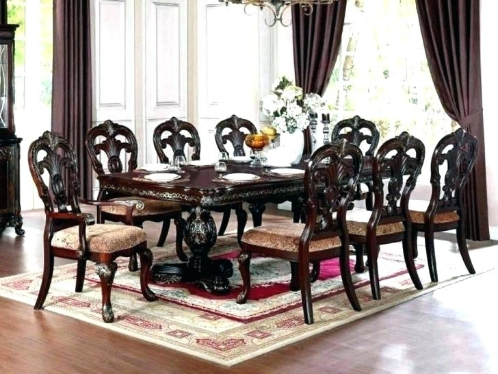 8 Chair Dining Room Set Table With Chairs Monstaahorg Gorgeous Round In Current 8 Chairs Dining Sets (View 6 of 20)