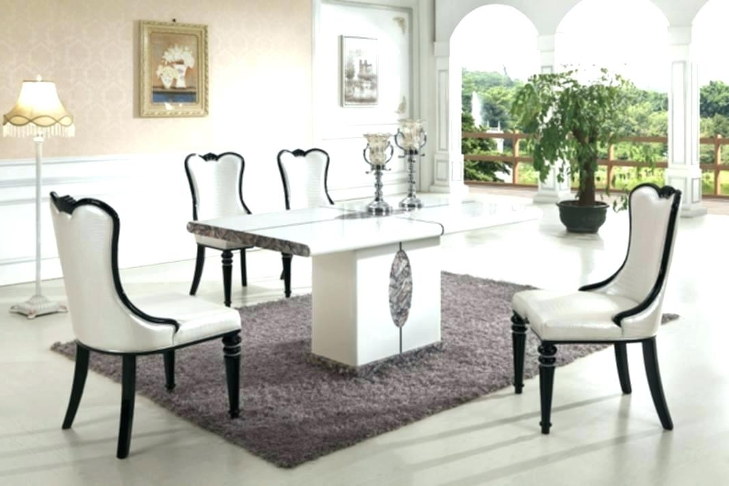 8 Chairs Dining Sets Regarding Well Known Faux Marble Dining Table Set 8 Chair Dining Table Set Modern Marble (View 10 of 20)