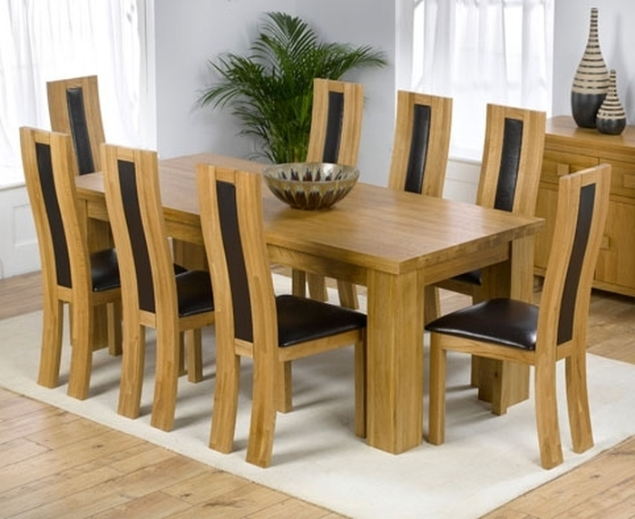 8 Chairs Dining Tables Pertaining To Well Liked (View 4 of 20)