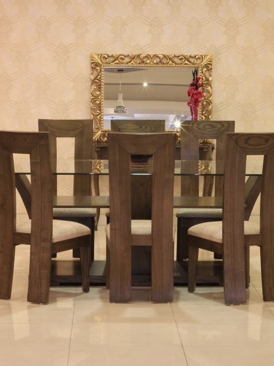 8 Chairs Dining Tables Within Favorite Violet Dining Table Set With 8 Chairs (ash Wood) (View 14 of 20)