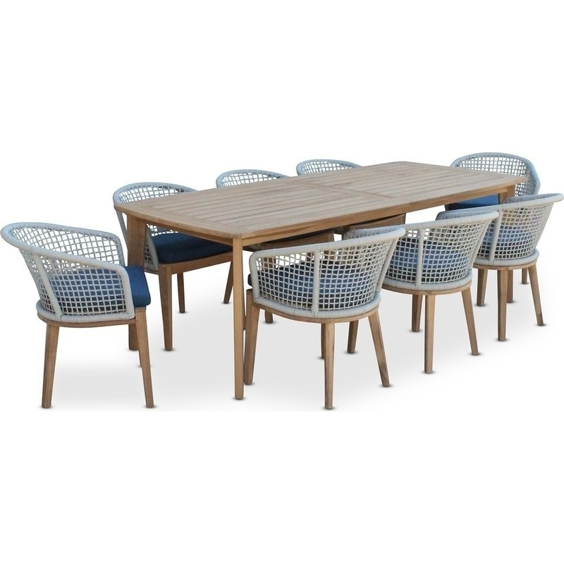 8 Seat Outdoor Dining Tables Inside Most Up To Date Brighton 8 Seat Pe Wicker Outdoor Dining Setting (Gallery 16 of 20)