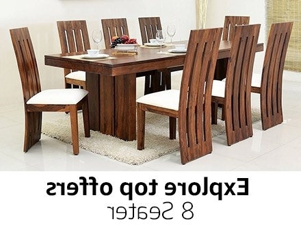 8 Seater Black Dining Tables Throughout Newest Dining Table: Buy Dining Table Online At Best Prices In India (View 15 of 20)