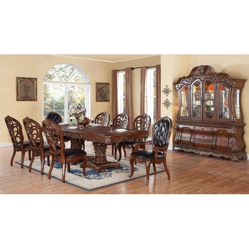 8 Seater Dining Tables Regarding Most Recent 8 Seater Dining Table Set At Rs 135000 /set (View 3 of 20)