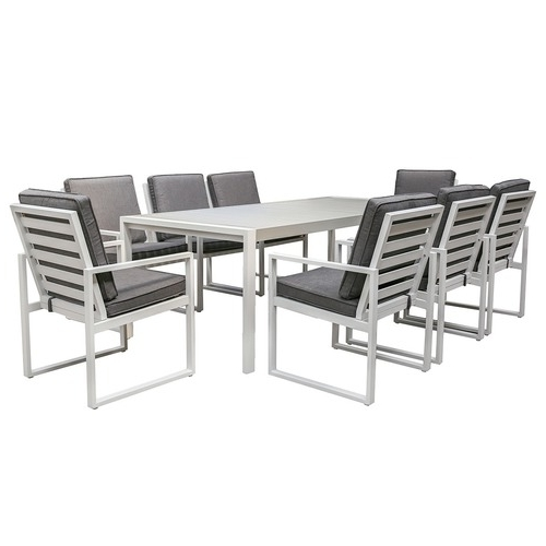 8 Seater Manly Outdoor Dining Table & Chair Set (Gallery 10 of 20)