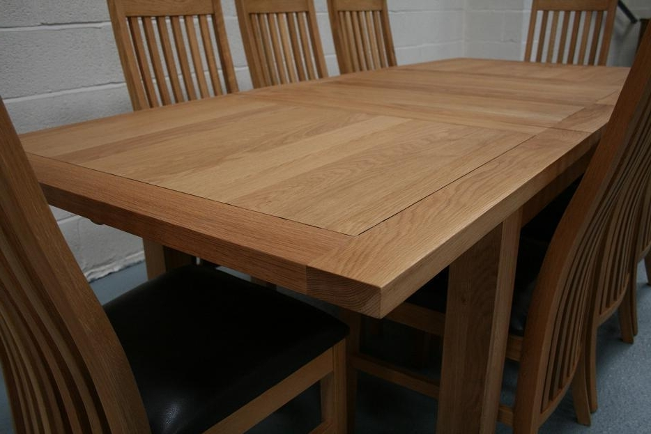 8 Seater Oak Dining Table Set Intended For Solid Oak Dining Tables And 8 Chairs (View 2 of 20)