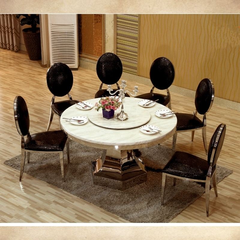 8 Seater Round Dining Table And Chairs With Popular 8 Seater Big Round Dining Table With Turntable Marble Top Dining (View 4 of 20)
