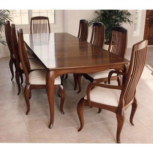 8 Seater Wooden Dining Table Set, Dining Table Set – Craft Creations With Regard To Most Recently Released Dining Tables For  (View 3 of 20)