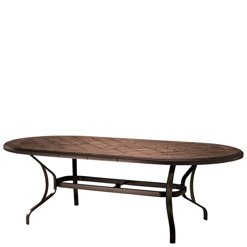 87 Inch Dining Tables With Well Known Tropitone 500084Swb Montreux Kd Dining Table Base For 87 Inch X  (View 3 of 20)