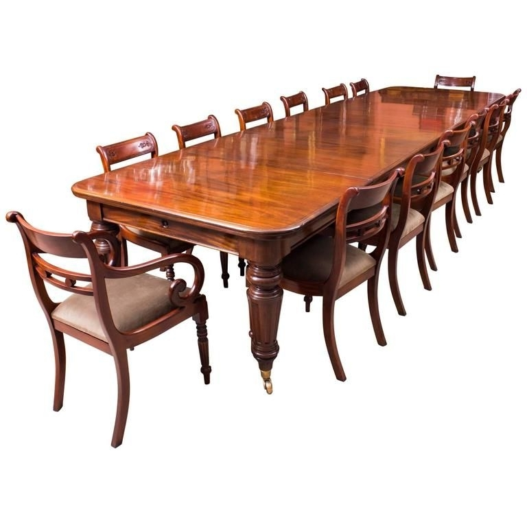 A Beautiful Dining Set Comprising An Antique Victorian Flame For Well Liked Mahogany Extending Dining Tables And Chairs (Gallery 17 of 20)
