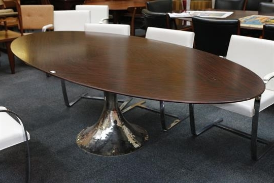 A Julian Chichester Dakota Dining Table, 21St Century, Elliptical Regarding Popular Chichester Dining Tables (View 1 of 20)