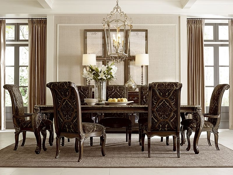 A.r.t. Furniture's Gables Collection Leg Dining Table, And Arm And Pertaining To Trendy Valencia 72 Inch 7 Piece Dining Sets (Gallery 12 of 20)