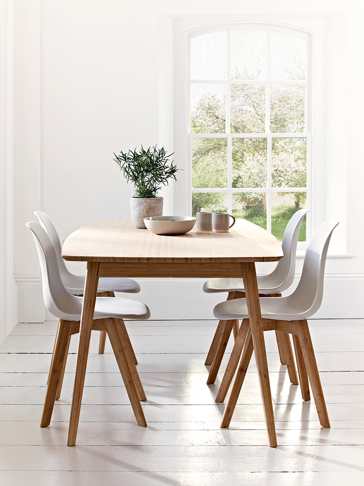Aalto Table With Four Dining Chairs; Sustainable Design Which Is Throughout Most Recently Released Scandinavian Dining Tables And Chairs (Gallery 1 of 20)