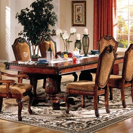 Acme Chateau De Ville Dining Room Set W/ Fabric Chairs – Chateau De In 2017 Dining Tables And Fabric Chairs (Gallery 17 of 20)
