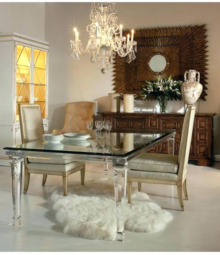 Acrylic Dining Room Table Acrylic Dining Room Table 2 Acrylic Dining With Preferred Acrylic Dining Tables (Gallery 14 of 20)