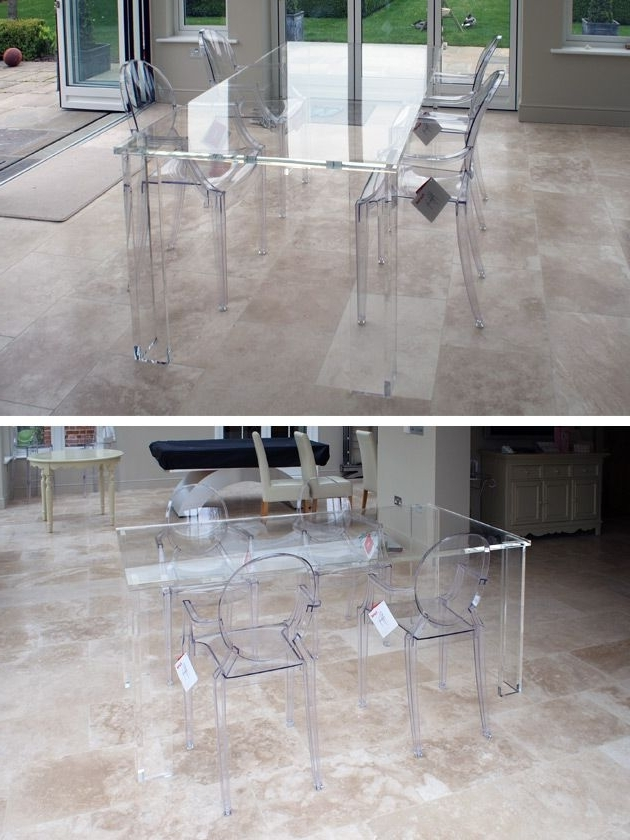 Acrylic Furniture Is Famed For How Well It Keeps Spaces Looking In Best And Newest Acrylic Dining Tables (Gallery 1 of 20)